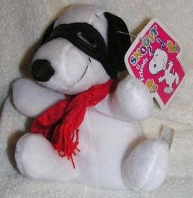 Peanuts Plush 6 Snoopy Flying Ace Bean Bag Doll