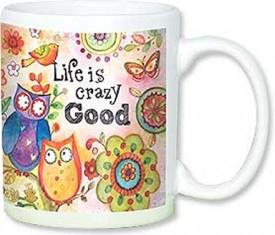 Leanin Tree Ceramic 12oz Coffee Mug Inspirational Good Life Life Is Crazy Good Morning Coffee Inspire Gift Mugs (MGW56158)