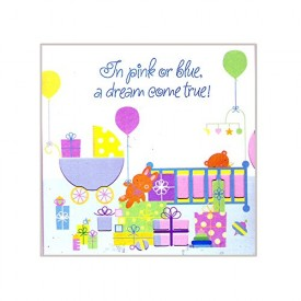 Party Express In Pink or Blue a Dream Come True! Baby Shower Invitations 48...