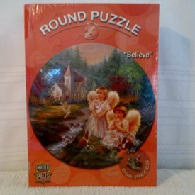 Believe Round Puzzle from  Master Pieces  19 1/2 inch round and 500 pieces The art of Dona Gelsinger