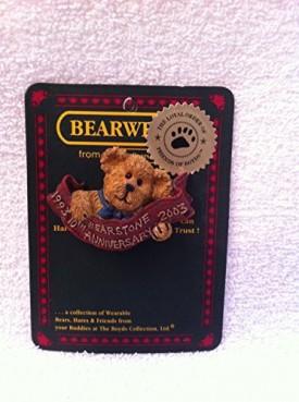 BOYDS BEARWARE: # 02003-72 BEARSTONE 10TH ANNIVERSARY PIN