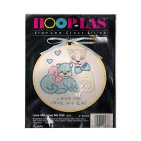 Hoop Las Love Me Love my Cat Needlepoint Kit Hoop 4 Round No. 20278
