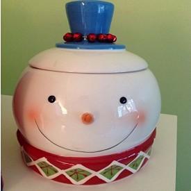 Cracker Barrel Snowman Magic Cookie Jar No. 311232