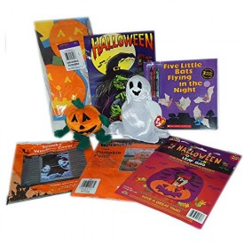 Halloween Party Pack: Decorations, Activity Books & Beanies Gift Bundle Ages 3+ [8 Piece]