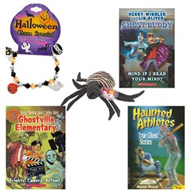 Halloween Books, Beanie & Charm Bracelet 5 Piece Party Pack Ages 3+