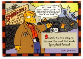 Simpsons Skybox Trading Card Smell-O-Rama #2 [Toy]