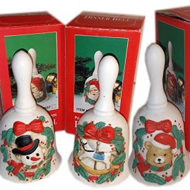 Porcelain Christmas Dinner Bells Set of 3 No. XT-94237