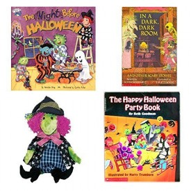 Halloween Books & Witch Beanie 4 Piece Party Pack Ages 3+