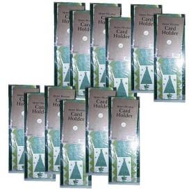 Bulk Lot Bundle (1) Dozen Foldout Merry Holiday Hanging Wall Greeting Card Display Holders