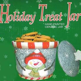 Huntington Its Snow Time! Holiday Treat/Cookie Jar Snowman No. M10499CT