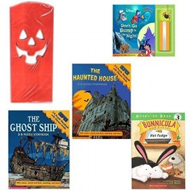 Halloween Books & Luminaries 4 Piece Party Pack Ages 3+