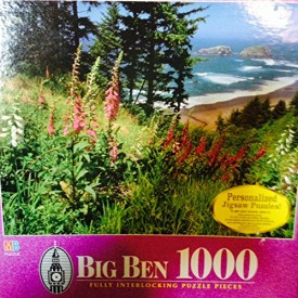 Vintage Big Ben 1000 Jigsaw Puzzle Samuel H. Boardman State Park Oregon, OR