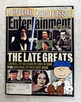 Entertainment Weekly  #576 January 5, 2001 A Special Tribute Issue The Late Greats Farewell to the Stars we Lost in 2000 (Collectible Single Back Issue Magazine)