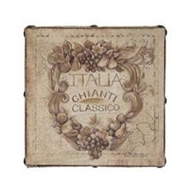 Susan Winget Wine Chianti Hand Embellished Linen 12 x 12 x 2.5