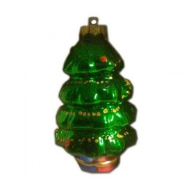 Christmas House Collectable Traditional Glass Ornament Christmas Tree