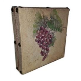 Susan Winget Wine Purple Grapes Hand Embellished Linen 12 x 12 x 2.5