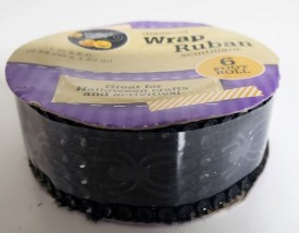 """Crafters Square Halloween Diamond Wrap Ribbon Spiders 1"""" x 6'"""