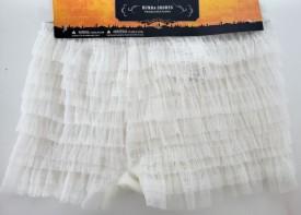 Tricks or Treats Rumba Shorts White Lace Adult Size Large