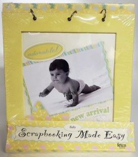 Fetco Scrapbooking Made Easy Baby (Yellow For Baby Boy or Girl)
