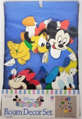 Vintage 1984 Dolly Inc Disney Babies Room Décor 7 Piece Set