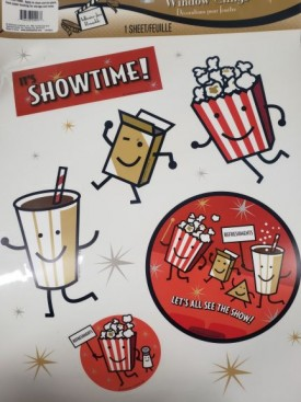 Movie Night - It's Showtime Window Clings