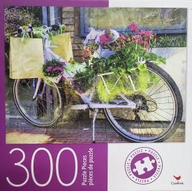 Cardinal Vintage Floral Bike 300 Large Pieces Jigsaw Puzzle