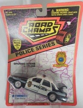 1997 Road Champs Police Series 1/43 Scale Emergency Vehicle Replica - Topeka, Kansas Police Car