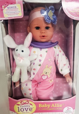"""Kingsgate The Doll Crafter Baby Allie 16"""" Soft Baby Doll"""