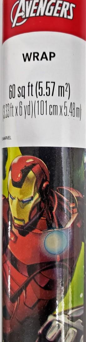 Marvel Avengers Gift Wrap Roll 60 Square Feet