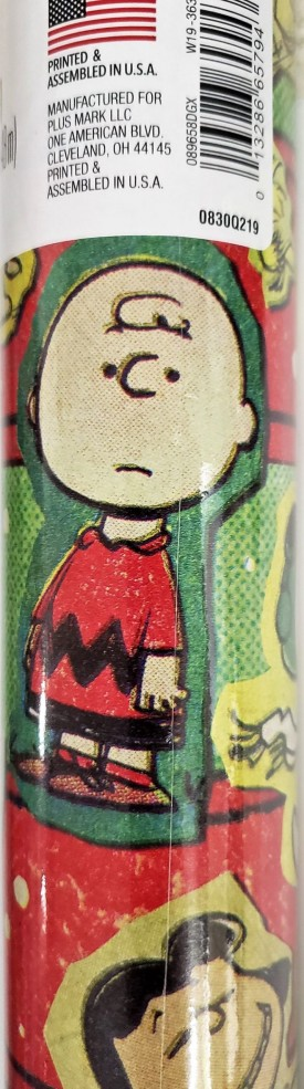 Peanuts Snoopy Charlie Brown Roll of Gift Wrap 60 Sq. Ft.