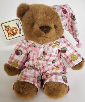 "Vintage 1990's Royal Plush Toys Country House Teddy Bear 12"""