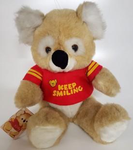 """Vintage 1984 Kirby Koala Bear """"Keep Smiling"""" Plush Gibson Greeting Cards 12"""" Sitting"""