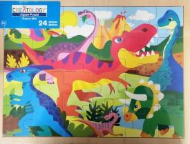 Creatology Wood Jigsaw Puzzle 24 Piece Colorful Dinosaurs