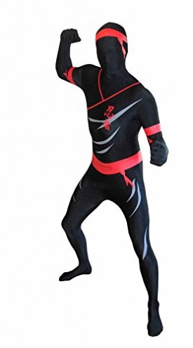 """Morphsuit Costumes For Halloween Scary Costumes - Ninja Size X-Large Height 5'10"""" - 6'3"""""""