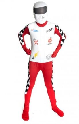 "Formula 1 Racer - Morphsuit for Kids - Childrens Fancy Dress Costume - size Medium 3'6""-3'11"""