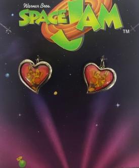 Starline Space Jam Pierced Heart Earrings Bugs Bunny & Lola