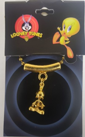 Starline Looney Tunes Space Jam Jewelry - Marvin The Martian Necklace Goldtone