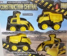 Adventure Alley Construction Central Vehicle Set 4 Piece