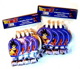 Dragon Ball Z 8 Medallion Party Blow-Outs