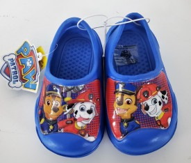 Paw Patrol Chase Marshall Rubber Slip on Shoes Blue Size Small 5-6 Sandals Clogs