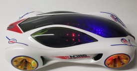 Rare YJ Racing Futuristic Concept Car With 3D Special Rotating Light Wheels