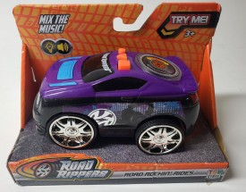 Toy State Road Rippers #33210 Road Rockin' Rides Mix The Music – Scratch It Like Vinyl On Record Spare Tire (Purple)
