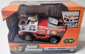 """2016 Toy State Road Rippers Rush & Rescue Firetruck #26 5"""" Lights & Sounds"""