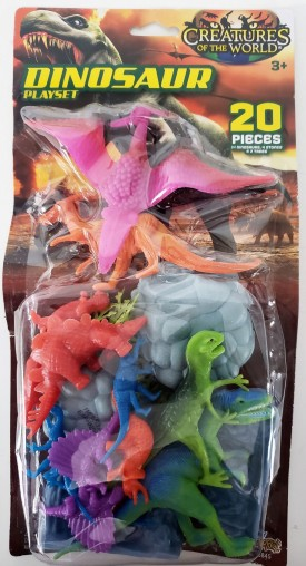 2016 Imperial Toys Creatures of The World Dinosaur Playset 20 Pieces