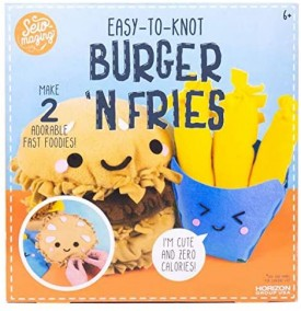 Sew-mazing Easy-to-Knot Burger N Fries Make 2 Adorable Fast Foodies