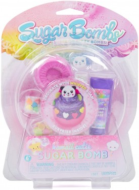 Sugar Bombs by Horizon Group USA, Design & Decorate Your Own Kawaii Themed Fizzing Bomb. Fizz in Bowl to Revel Hidden Surprise Gift. Embellish with Glitter, Confetti, Sprinkles & More, Purple Kawaii