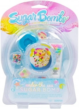 Sugar Bombs by Horizon Group USA. Design & Decorate Your Own Under The Sea Themed Fizzing Bomb. Fizz in Bowl to Revel Hidden Surprise Gift. Embellish with Whipped Soap,Confetti,Sprinkles & More. Blue