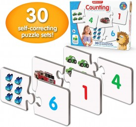 The Learning Journey: Match It! Counting - Preschool Learning Toys, Educational Toys for 4 Year Old's, Homeschool Preschool, Self-Correcting Number & Learn to Count Puzzle, Award Winning Toys