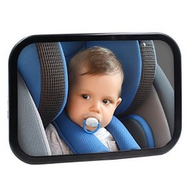 Safe Baby Car Mirror for Rear View Facing Back Seat for Infant Child, Fully Assembled and Adjustable, Backseat Shatterproof Mirror with Perfect Reflection