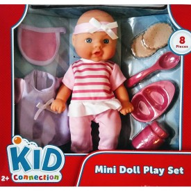 Kids Connection Mini Doll Playset 8 Pieces